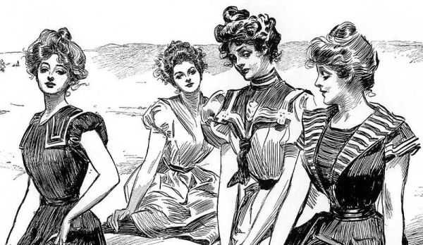 800px-Gibson_Girls_seaside_-cropped-_by_Charles_Dana_Gibson