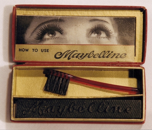 Maybelline mascara featuring actress Mildred Davis' eyes, 1920s.
